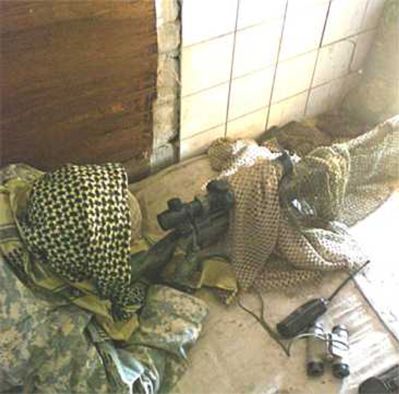 Tactical Concealment Spyder Mesh used for rifle and optic cover concealmet