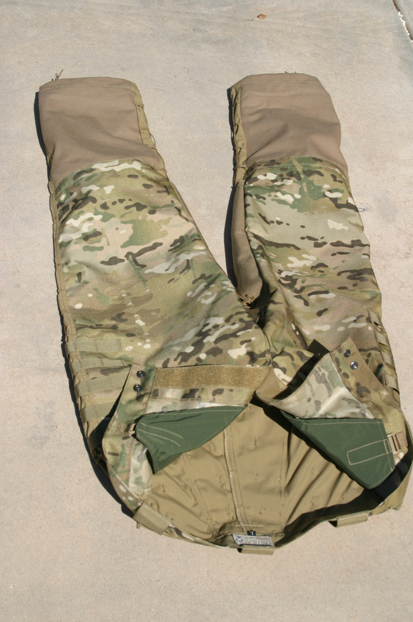 Tactical Concealment Mamba Sniper Low Crawl trousers have a free floating internal padded liner / pocket to remove, lessen or thicken your thermal protection against the ground.