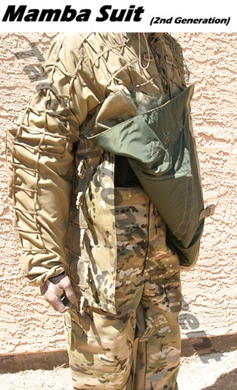 Tactical Concealment Mamba Suit thermal protection.