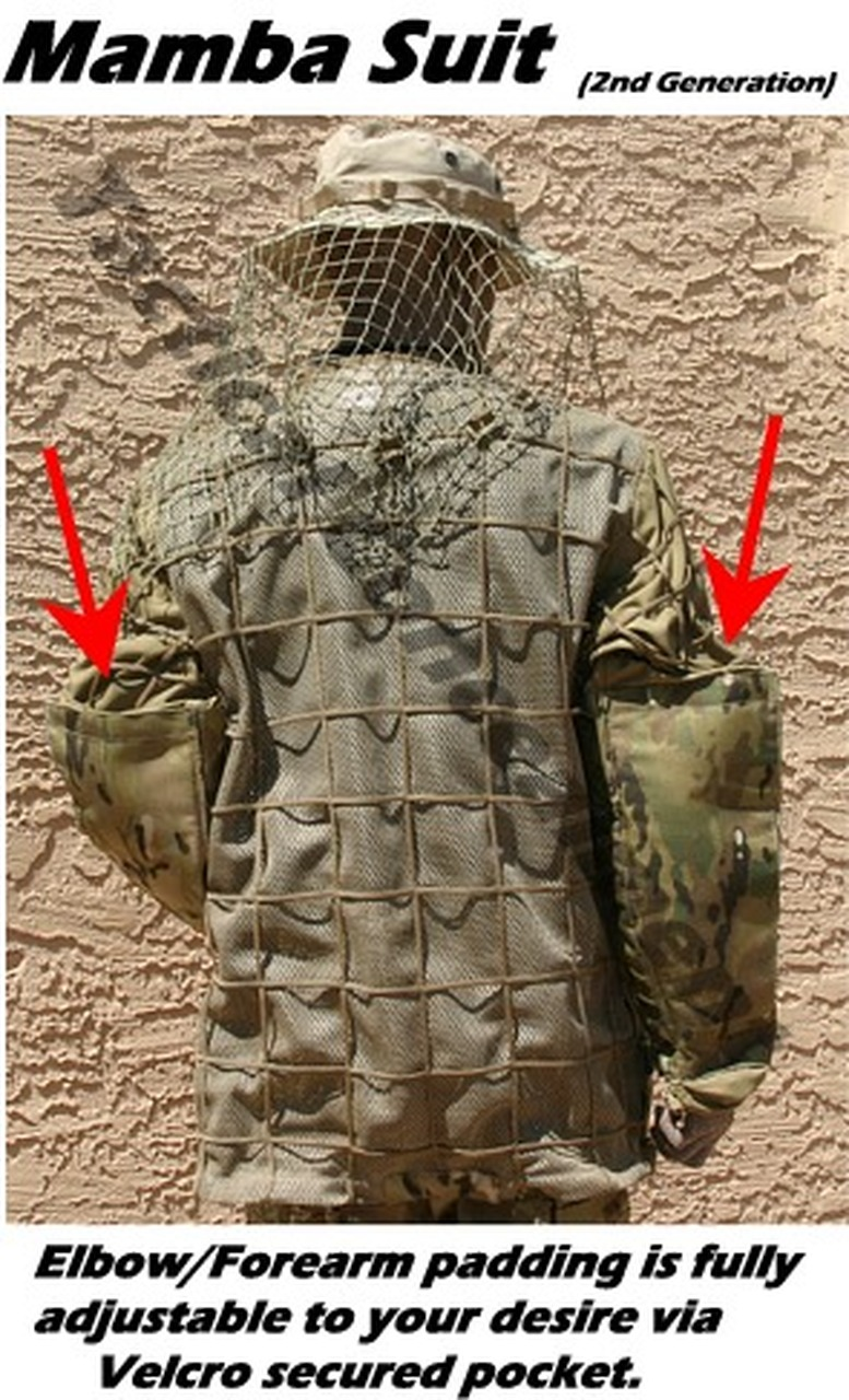 Tactical Concealment Mamba Suit BAEP padded protected elbows for dingy down n dirty low crawls.