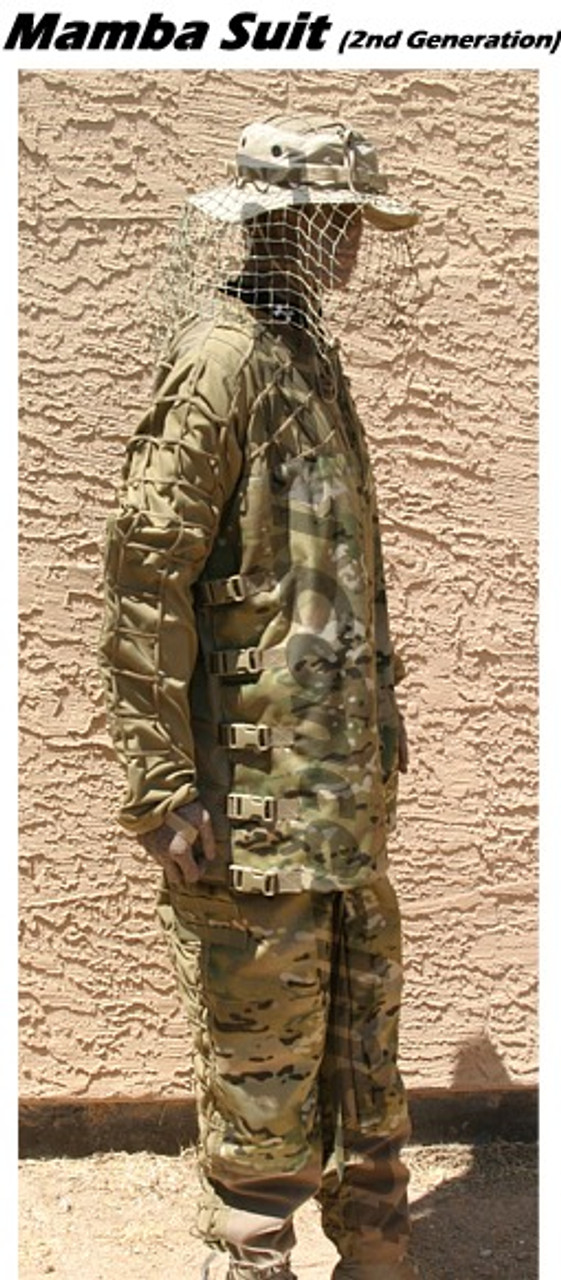 Tactical Concealment Mamba Suit lived the entire span of the war. Like the B-52 but lighter.