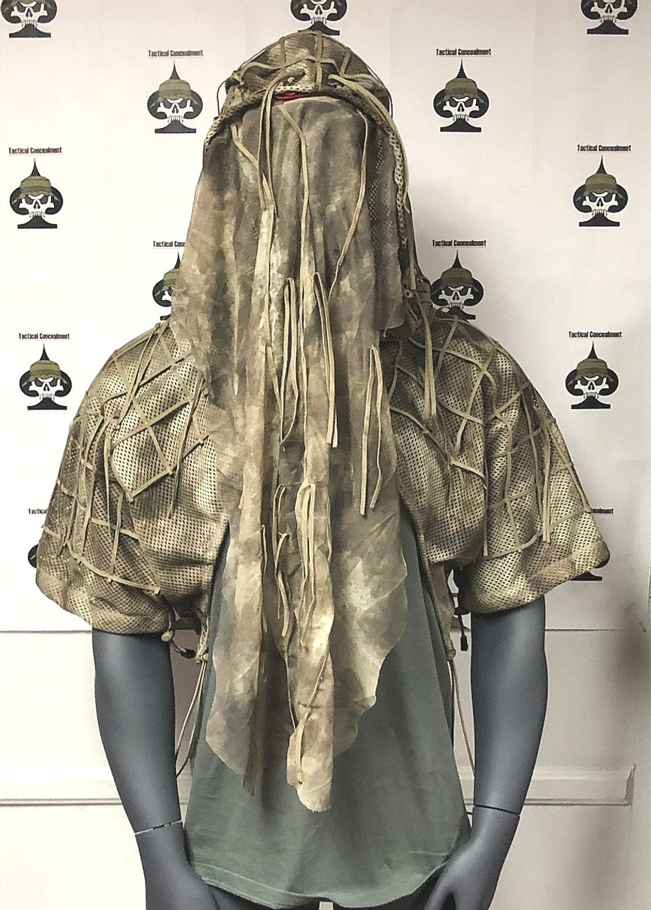 Tactical Concealment SURGEON Hood with face / weapon extension veil deployed