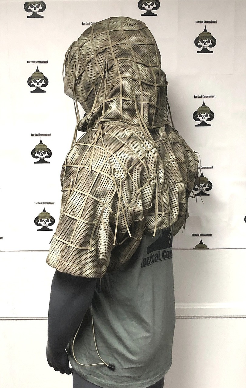 Tactical Concealment SURGEON Hood back/side view
