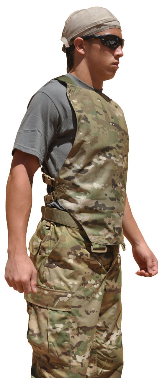 Tactical Concealment Sidewinder chest skid plate Multicam sideview