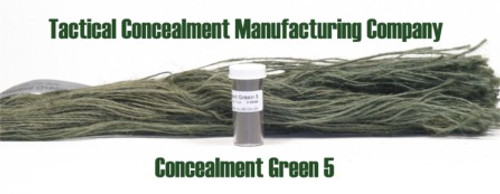 Concealment Green 5 / Industrial Color Dye (ghillie suit construction)