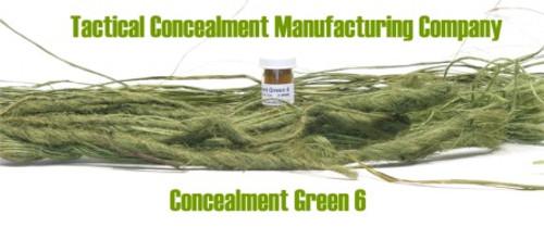 Concealment Green 6 / Industrial Color Dye (ghillie suit construction)