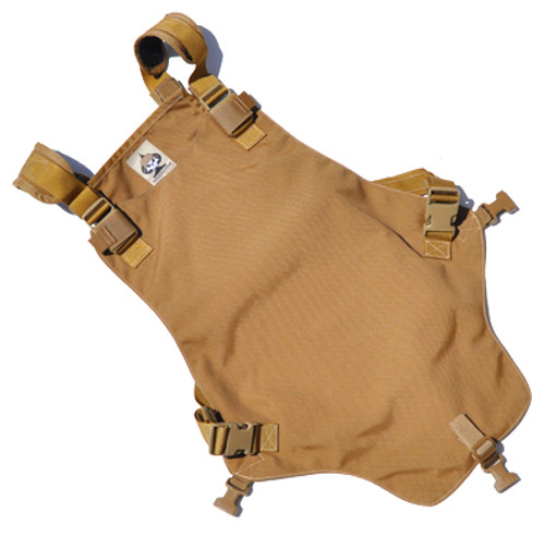 Tactical Concealment Sidewinder chest skid plate in coyote brown