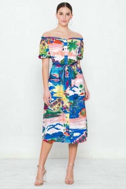 A Printed Woven Dress - SAL2.ID17691.id.40405-L