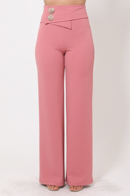 Oversized Button Front Detail Pants - VAL2.P11123.id.51497c-L
