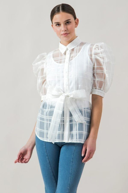 A See-thru Mini Length Organza Top - SAL2.JT8918.id.40402-L