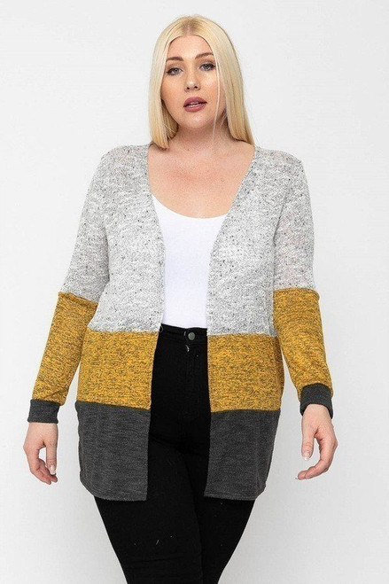 Color Block, Lightweight Cardigan - POL2.OC-10001VI.id.51812b-1XL