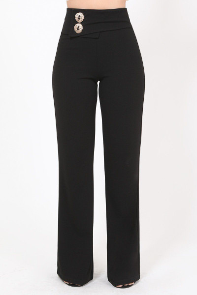 Oversized Button Front Detail Pants - VAL2.P11123.id.51497-L