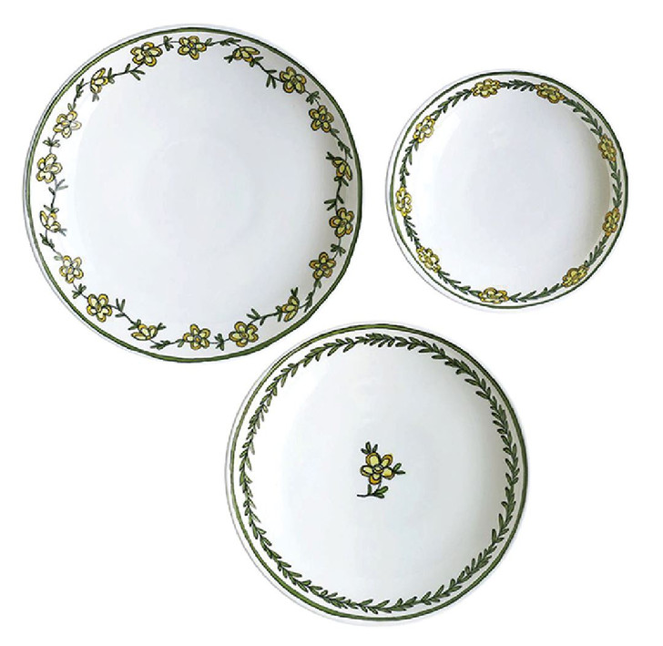Daisy Chain - Assorted Set of Three Canape Dishes - S, M & L