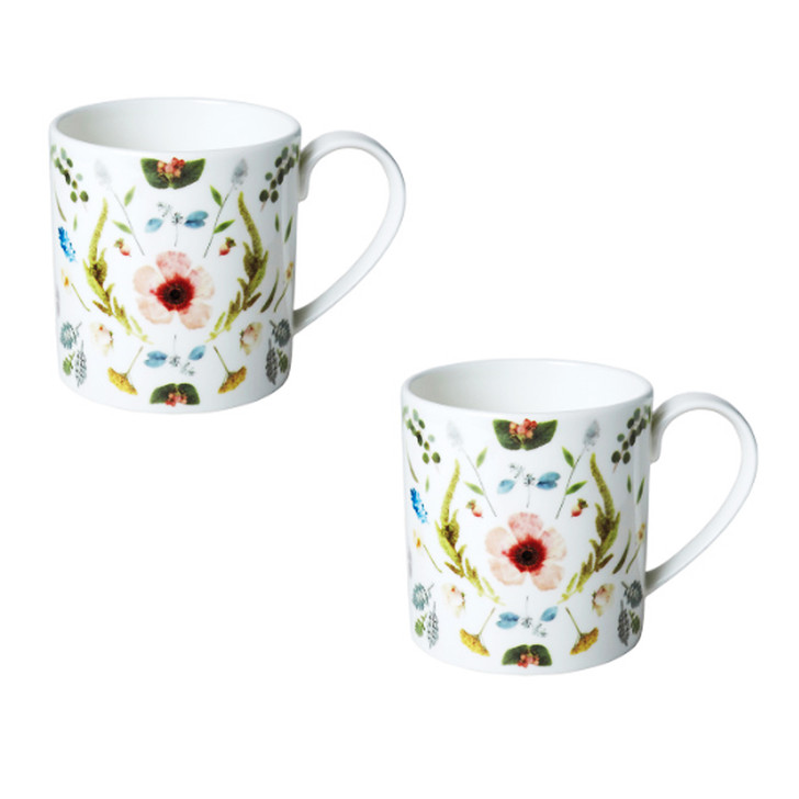 [Twig New York] Scandinavian Floral Set of 2 Mugs