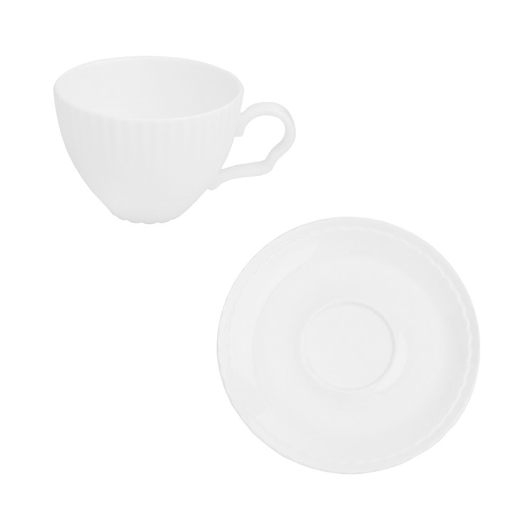 [Whitebloom] Ruffle coffee cup and saucer