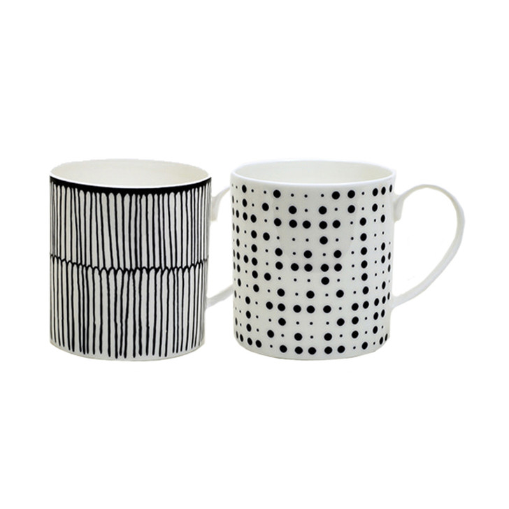 [Retro Blue] 2 Mug Set