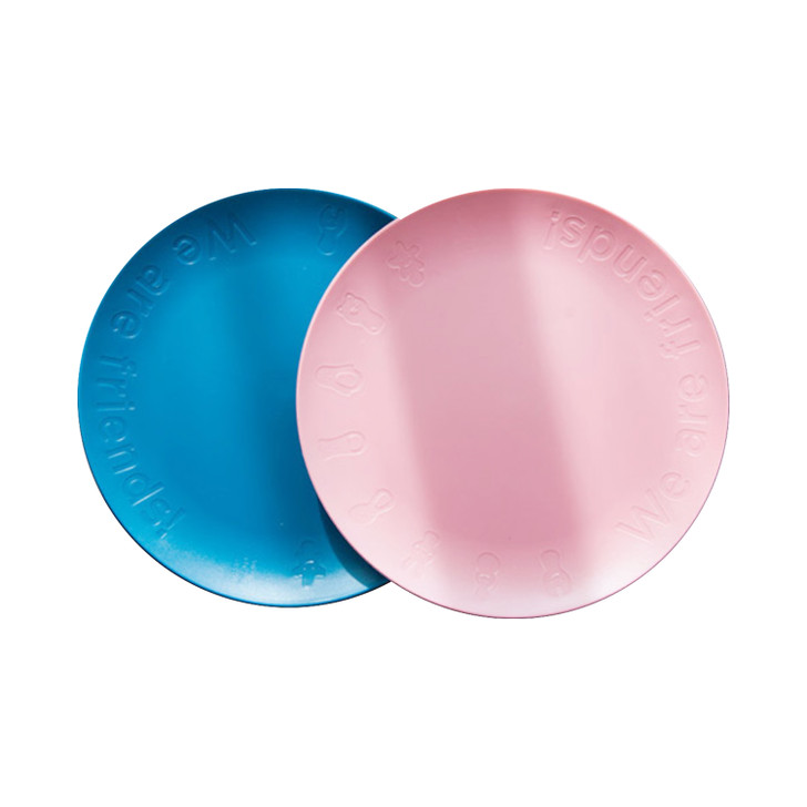 Nineware Friends Party Plate 2P Set (Pink & Blue)