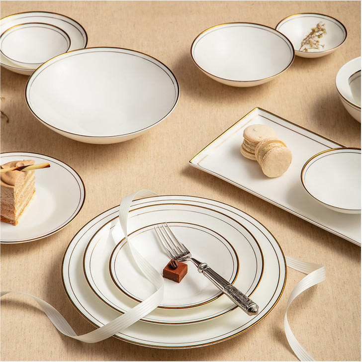 Neo Gold 32-Piece Home Set, Serving for 6