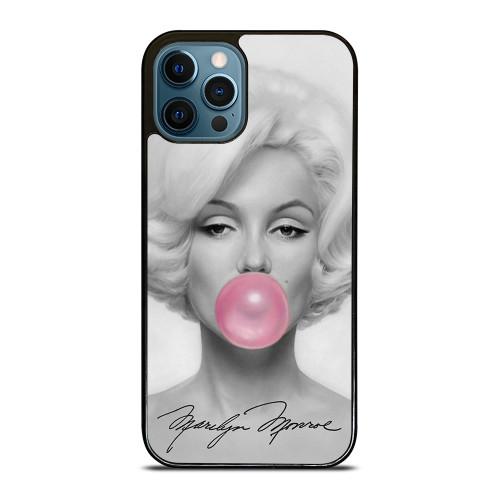 MARILYN MONROE PINK BUBBLEGUM ART iPhone 12 Pro Max Case