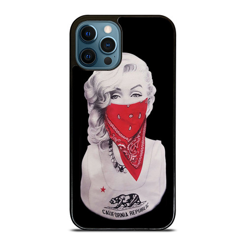 MARILYN MONROE RED BANDANA GANGSTER iPhone 12 Pro Max Case