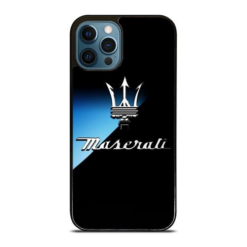 MASERATI DARK BLUE LOGO iPhone 12 Pro Max Case