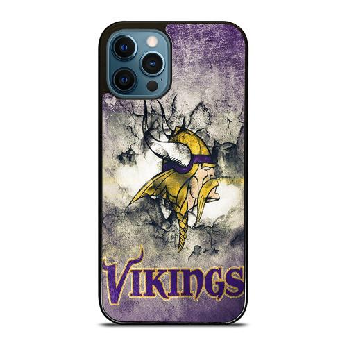 MINNESOTA VIKINGS GRUNGE LOGO iPhone 12 Pro Max Case
