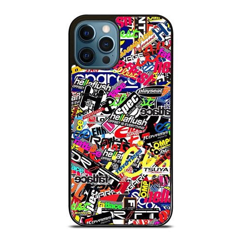 MOTOCROSS MX STICKER BOMB iPhone 12 Pro Max Case