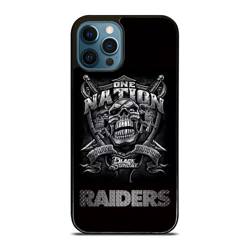 OAKLAND RAIDERS BLACK ONE NATION iPhone 12 Pro Max Case