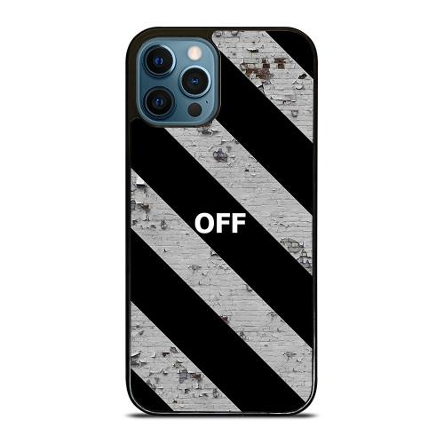 OFF WHITE LOGO STRIPE iPhone 12 Pro Max Case