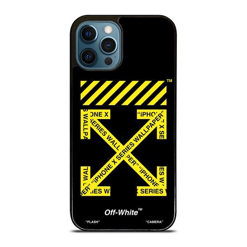 OFF WHITE LOGO YELLOW STRIPE iPhone 12 Pro Max Case