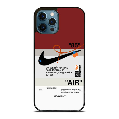 OFF WHITE NIKE AIR JORDAN iPhone 12 Pro Max Case