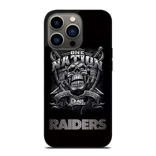 OAKLAND RAIDERS BLACK ONE NATION iPhone 13 Pro Case