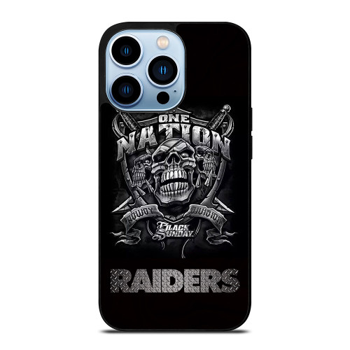 OAKLAND RAIDERS BLACK ONE NATION iPhone 13 Pro Max Case