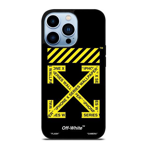 OFF WHITE LOGO YELLOW STRIPE iPhone 13 Pro Max Case