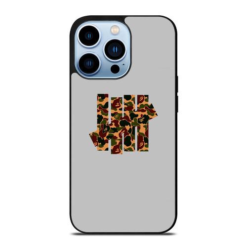 UNDEFEATED LOGO BAPE CAMO iPhone 13 Pro Max Case