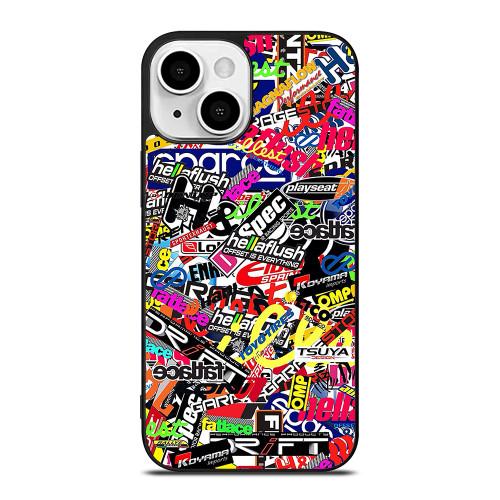 MOTOCROSS MX STICKER BOMB iPhone 13 Mini Case