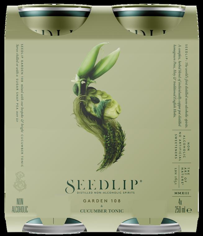 Seedlip 4 Pack Garden 108 & Cucumber Tonic
