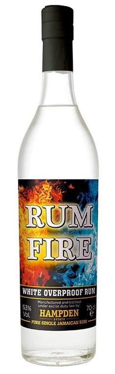 Hampden Rum Fire White Overproof Jamaican Rum