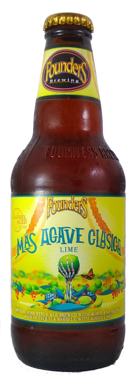 Founders Brewing Mas Agave Clasica Lime Tequila Barrel Aged Gose