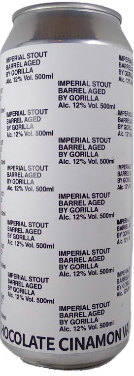 Gorilla Chocolate Cinamon Vanilla Roll Barrel Aged Imperial Stout