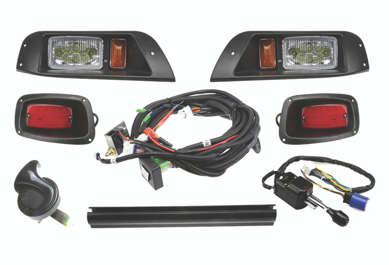 [TVPR_3874]  EZ-GO TXT Deluxe LED Light Kit with Wiring Harness on/off switch | 12 Ez Turn Signal Wire Harness |  | ExtremeKartz.com