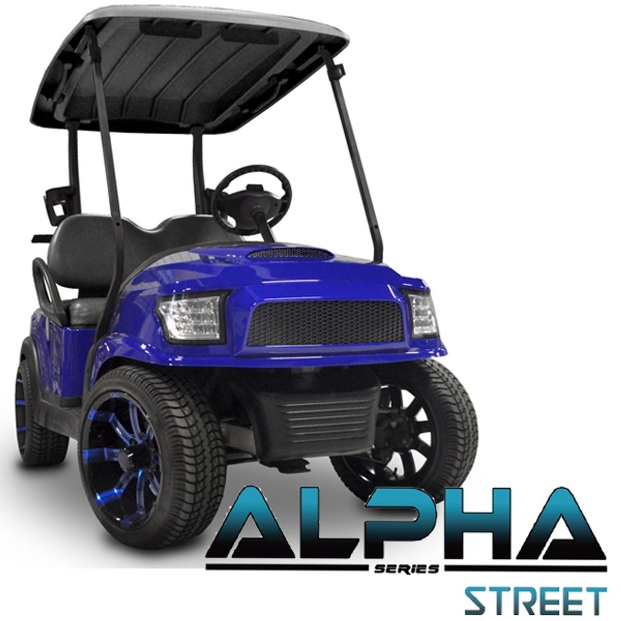 Madjax Alpha Blue Front Cowl w/ Street  Grill & Headlights