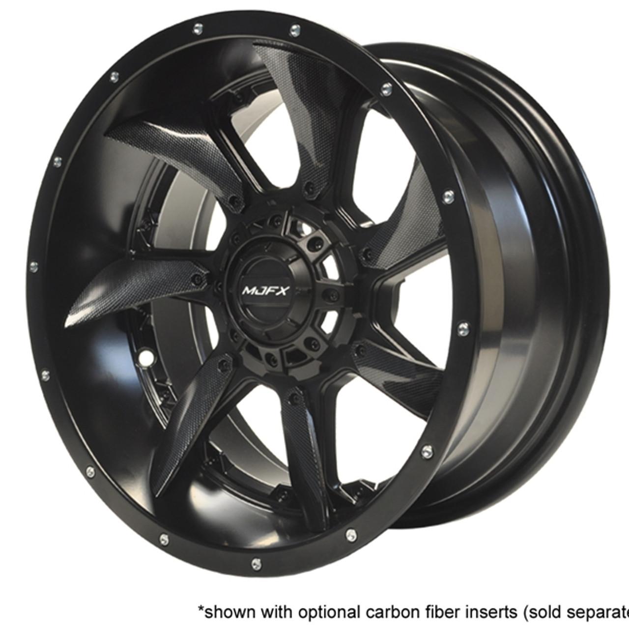 """Madjax BlackHawk 12"""" Black Wheel with Carbon Fiber Inserts"""