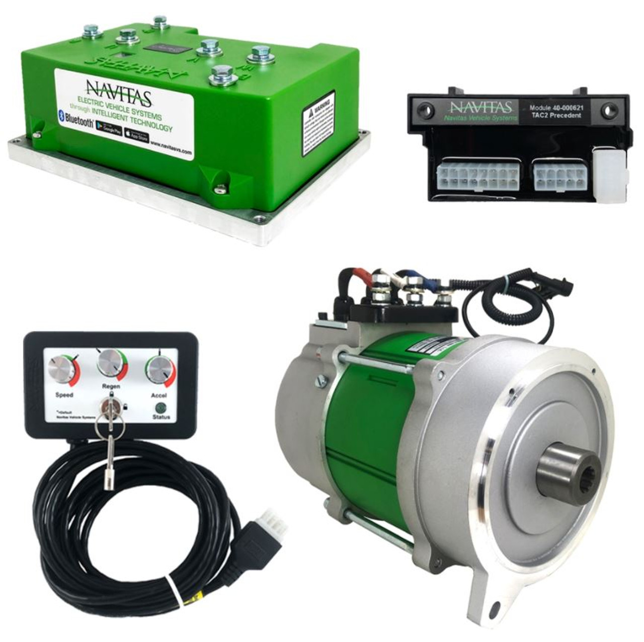 Club Car Carryall 600A 5KW Navitas DC to AC Conversion Kit with OTF Programmer