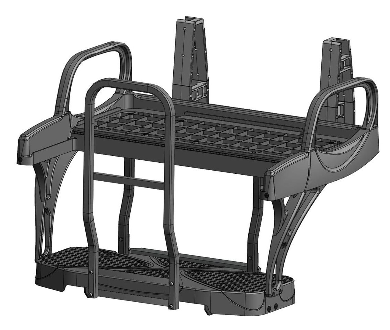 Doubletake MAX 5 Deluxe Golf Cart Rear Seat FRAME ONLY NO CUSHION SET ( MAX 6 Cruz Shown)