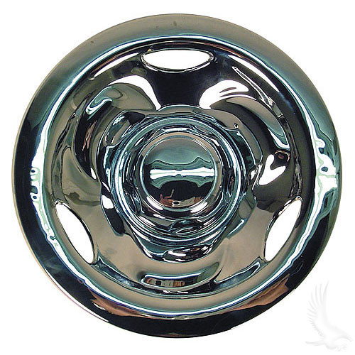 "Wheel Cover, 8"" Deep Dish Chrome standard 8"" wheels"