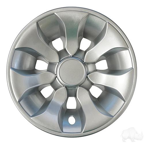"Golf Cart Wheel Cover, 8"" Driver Silver standard 8"" wheels"