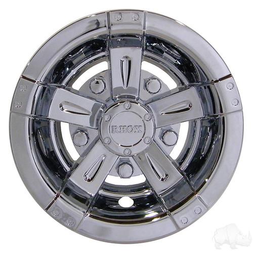"Golf Cart Wheel Cover, 8"" Vegas Chrome standard 8"" wheels"