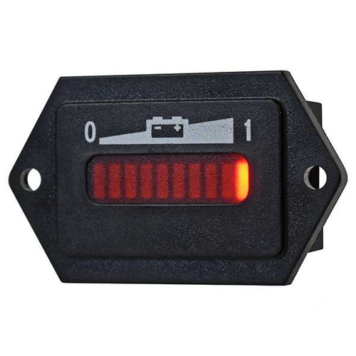 Golf Cart Battery Charge Meter, 48V with Tabs