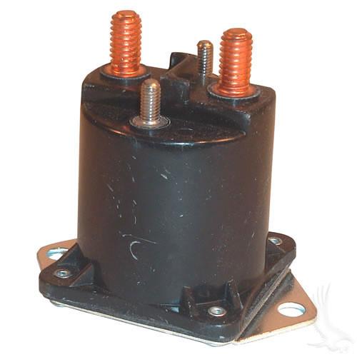 Solenoid, 12V 4 Terminal Copper, Club Car Gas 84+
